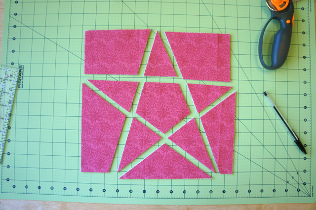 Tutorial 5 Point Star Quilt Block Technique 2 Jmday